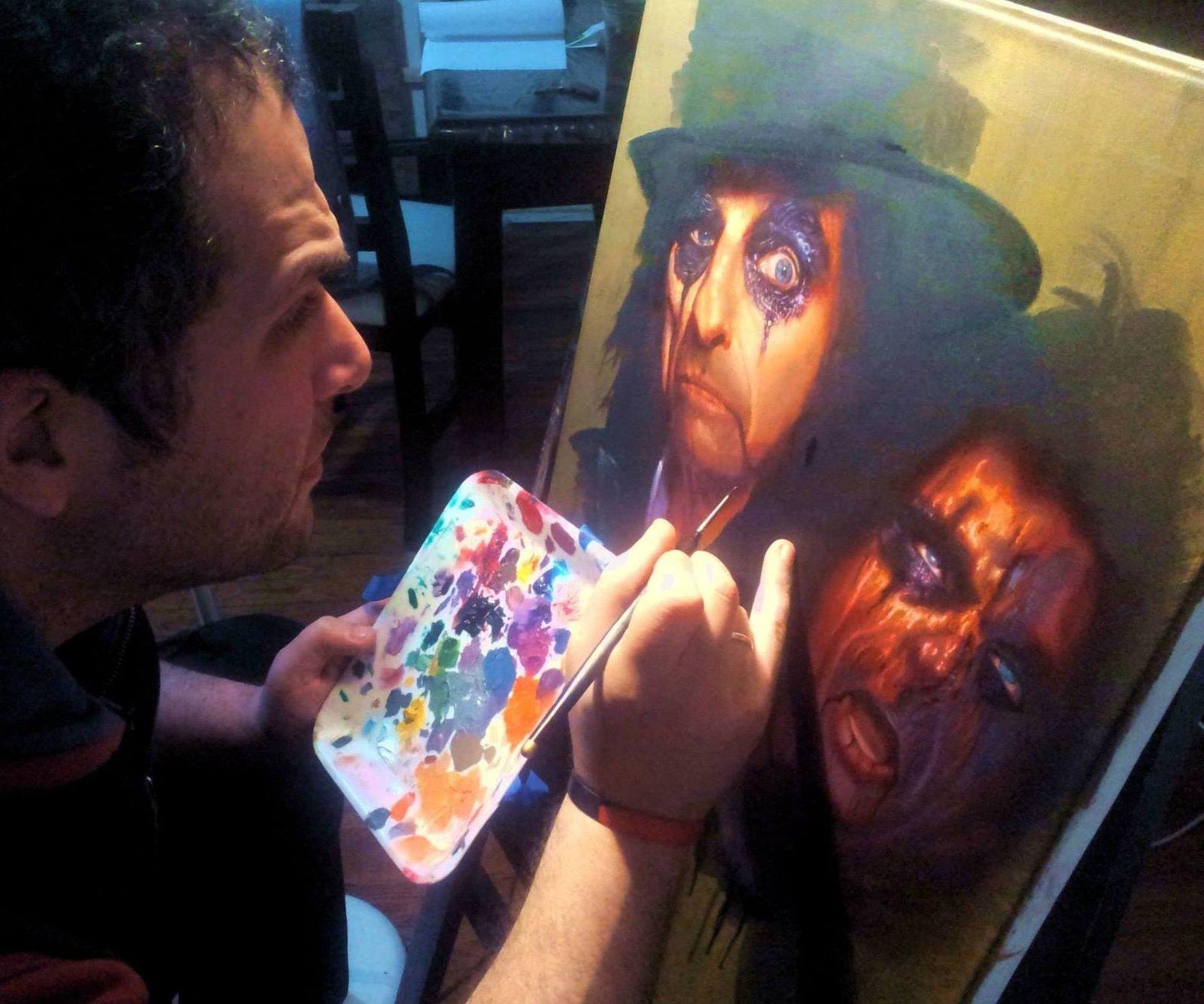 Painting Alice Cooper