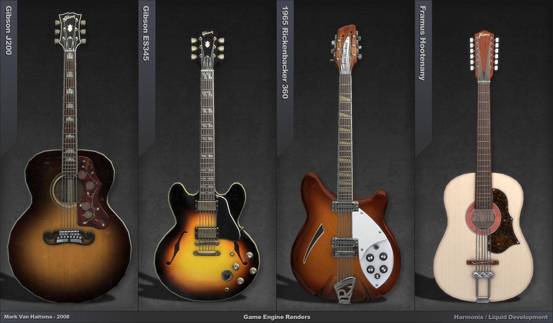 ArtStation - Beatles Rock Band Guitars, Mark Van Haitsma