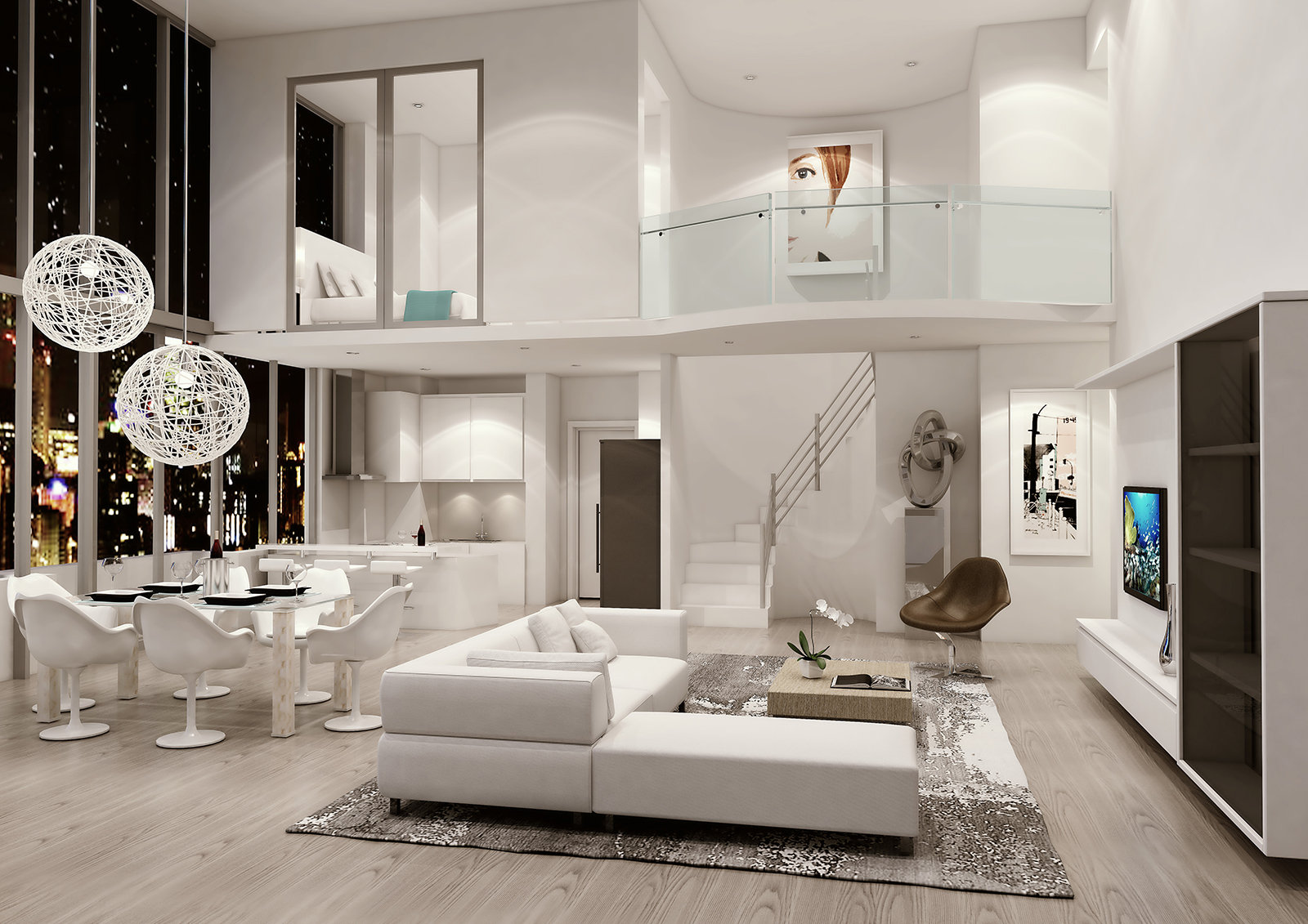 Double Story Living Space