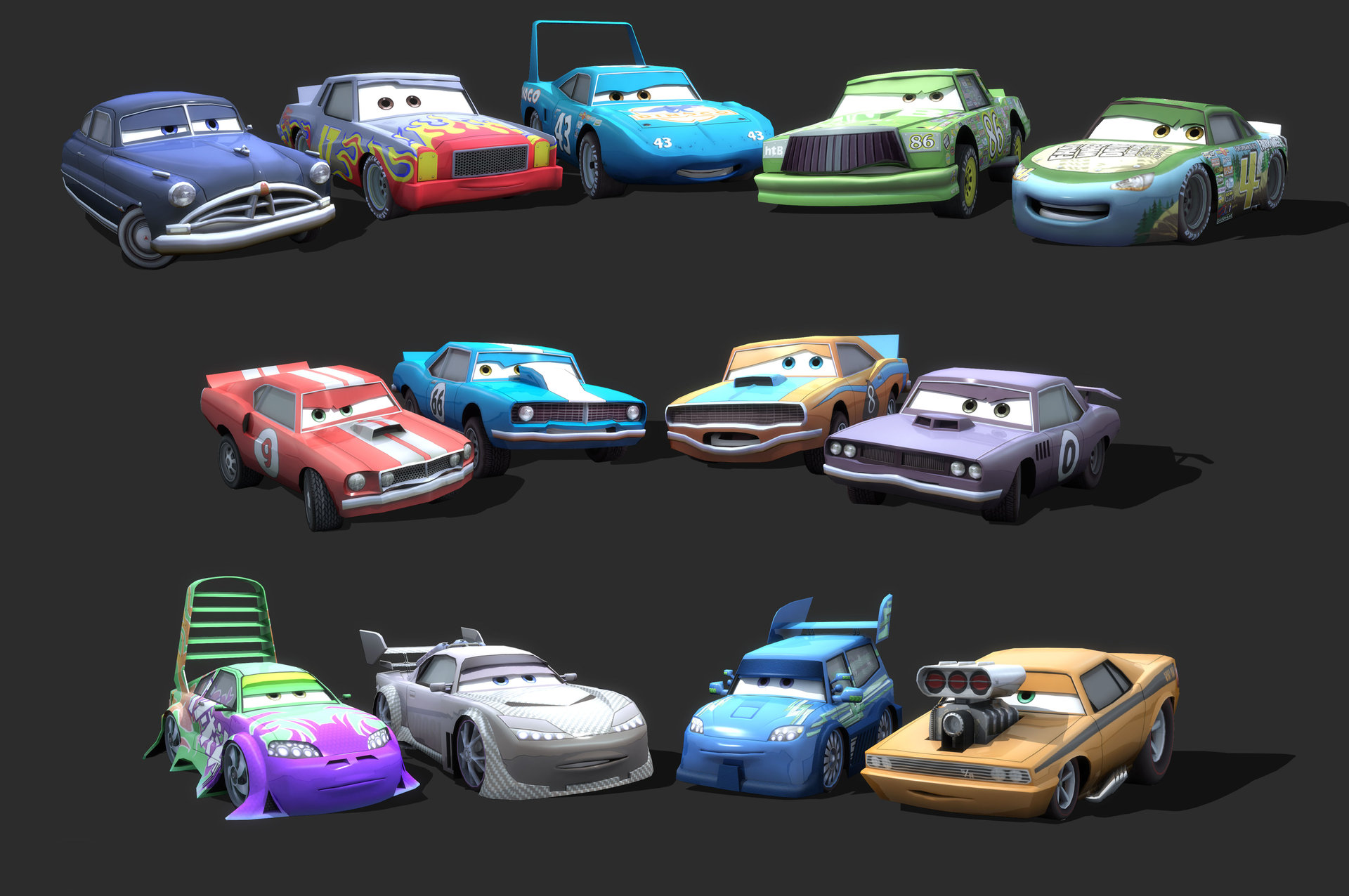 Mark van haitsma cars character collage 2