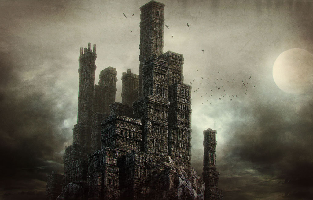 Daniel bystedt castle on cliff closeup 3d render