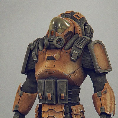 Daniel bystedt mech suit three quarter view