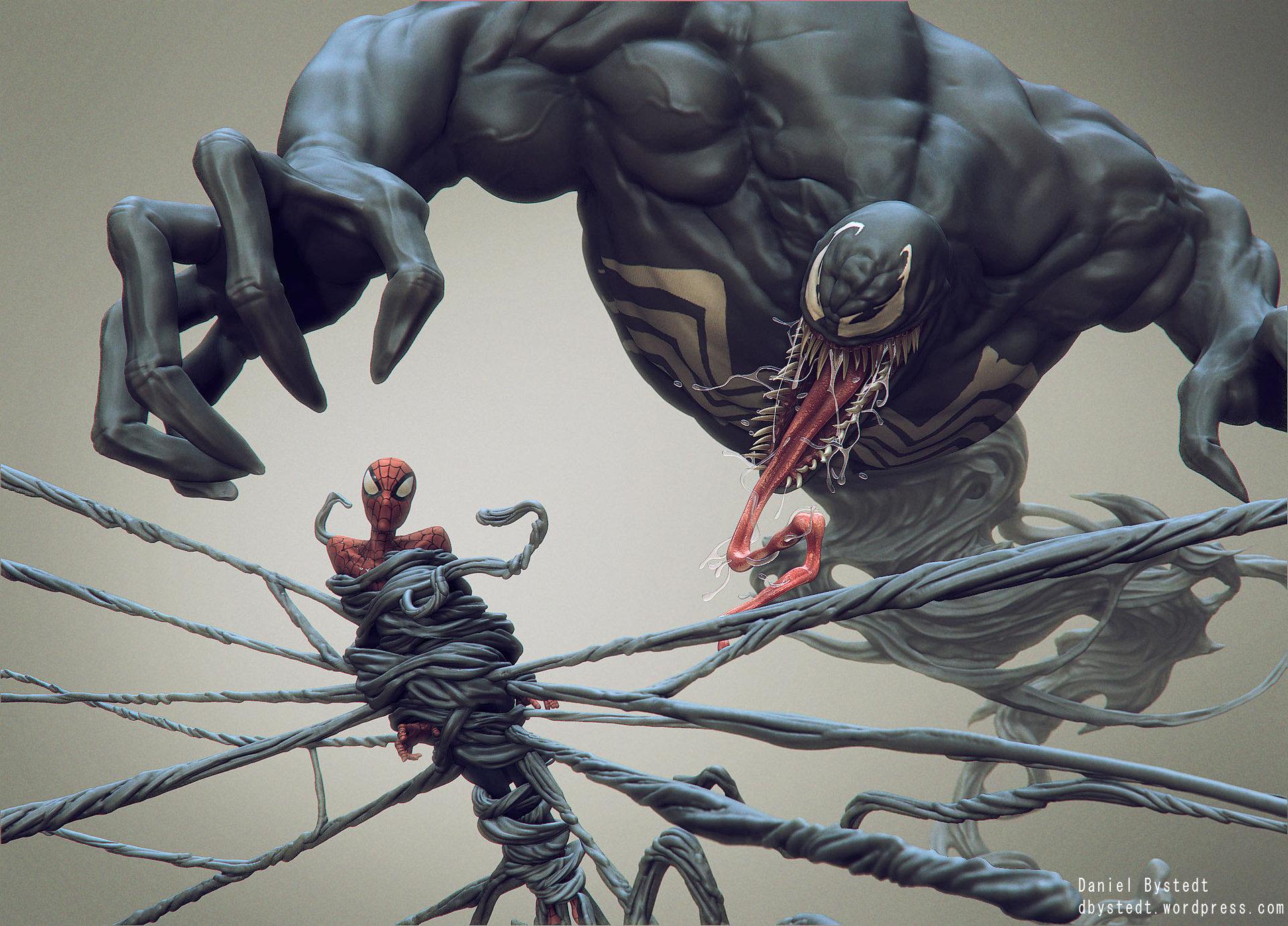 Daniel bystedt venom spider man side render