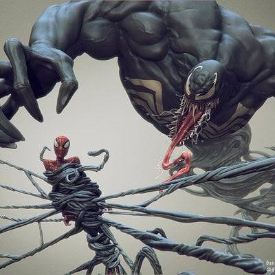 Daniel bystedt venom spider man side render