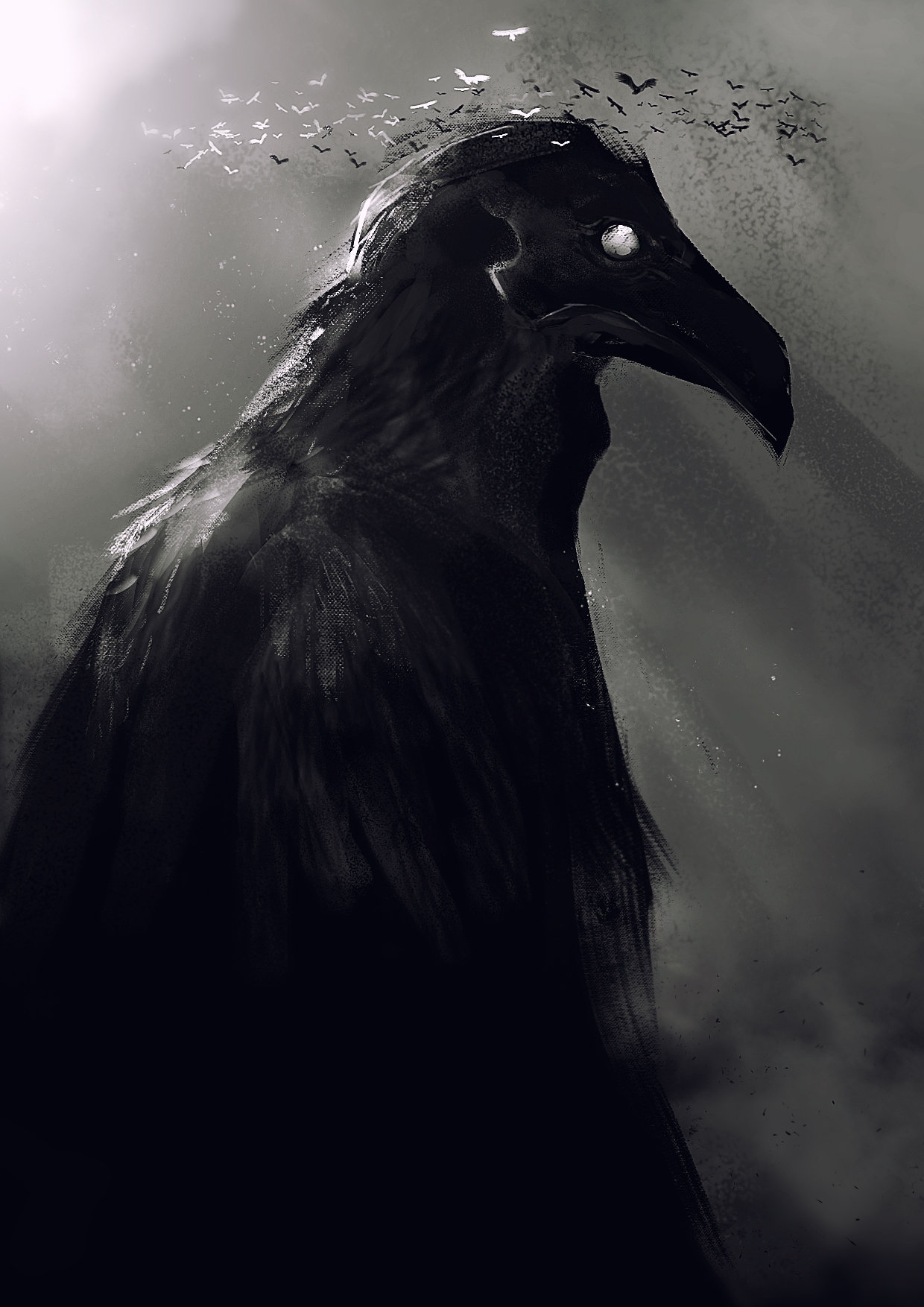 ArtStation - Crow God, Kevin Macio