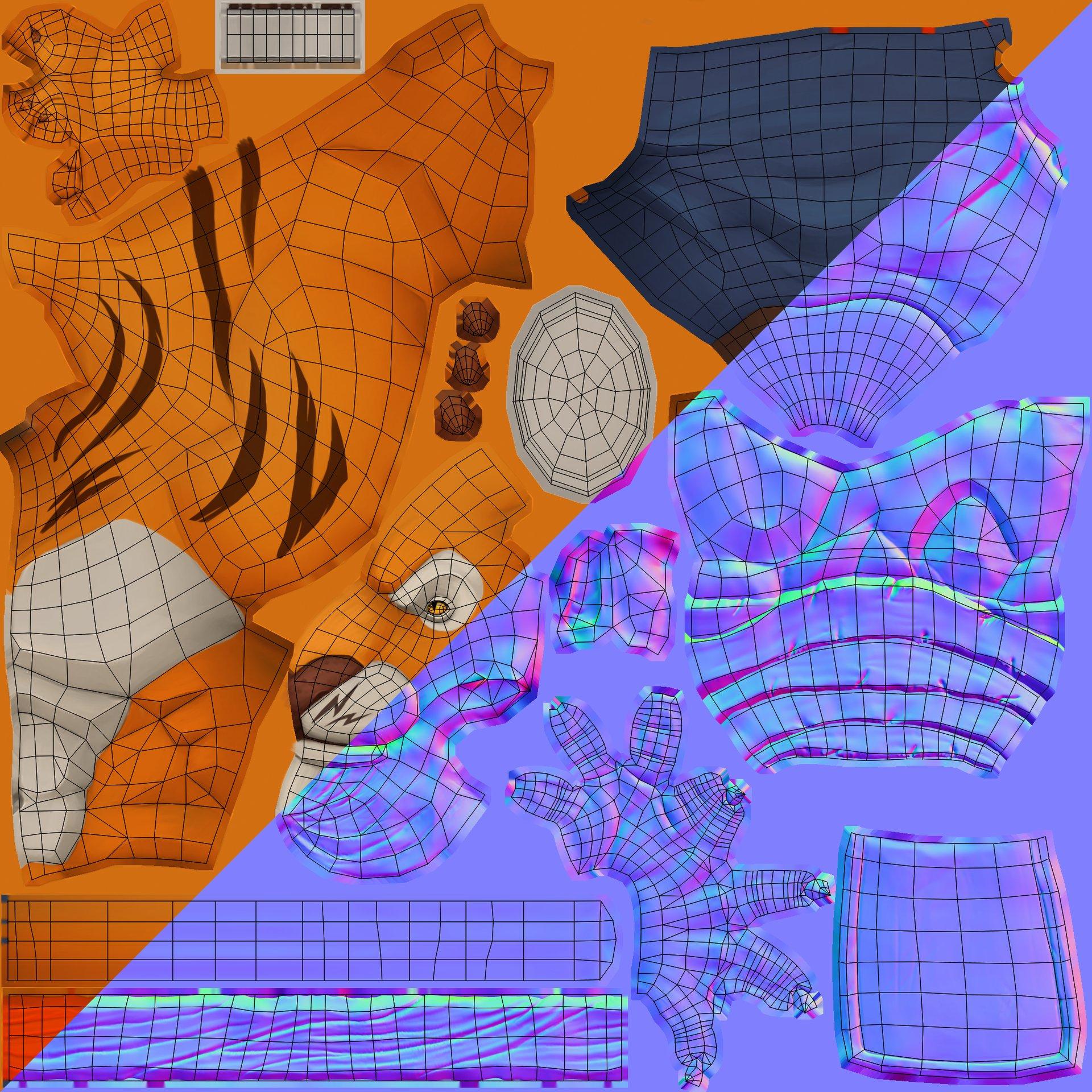 Giles ruscoe lu tiger textures