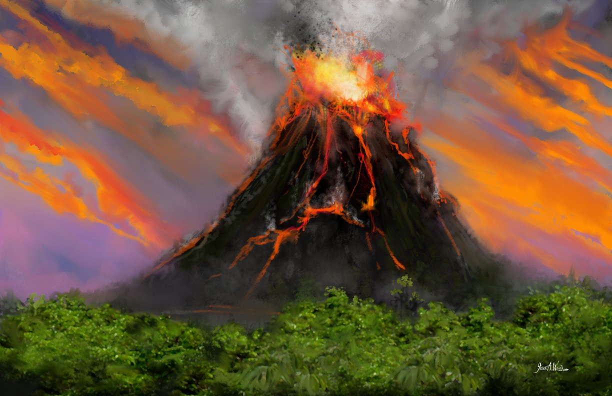 Volcano Island - Speed Painting
