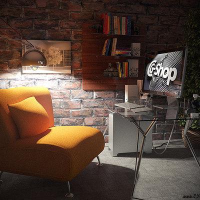 Christoph schindelar home workstation nacht