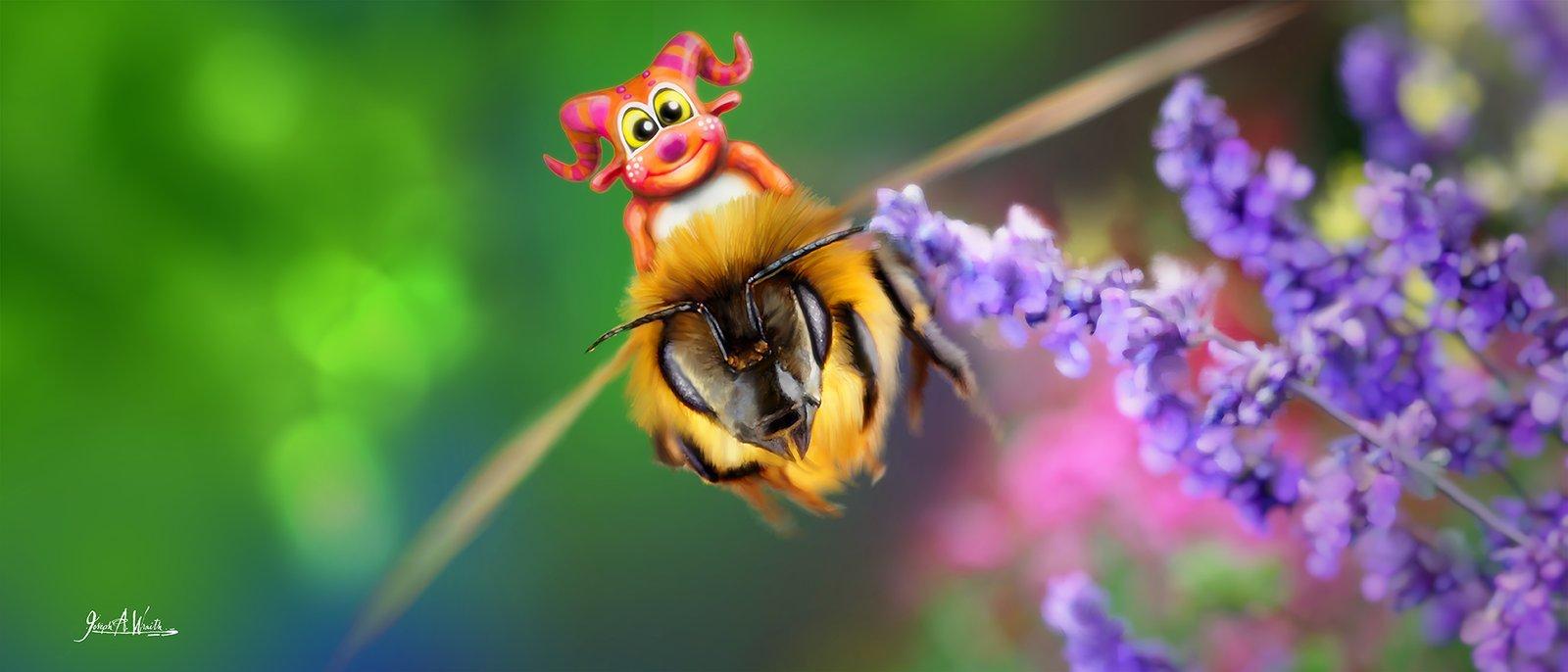Telior Rides a Bee