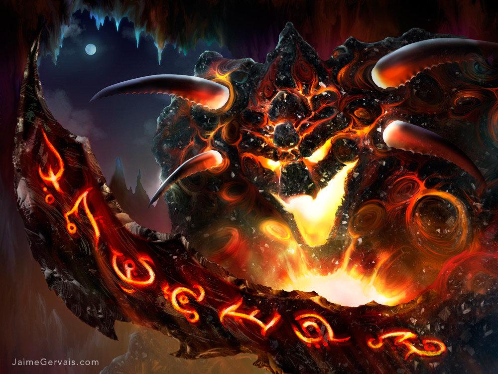 Obsidian Fire Golem