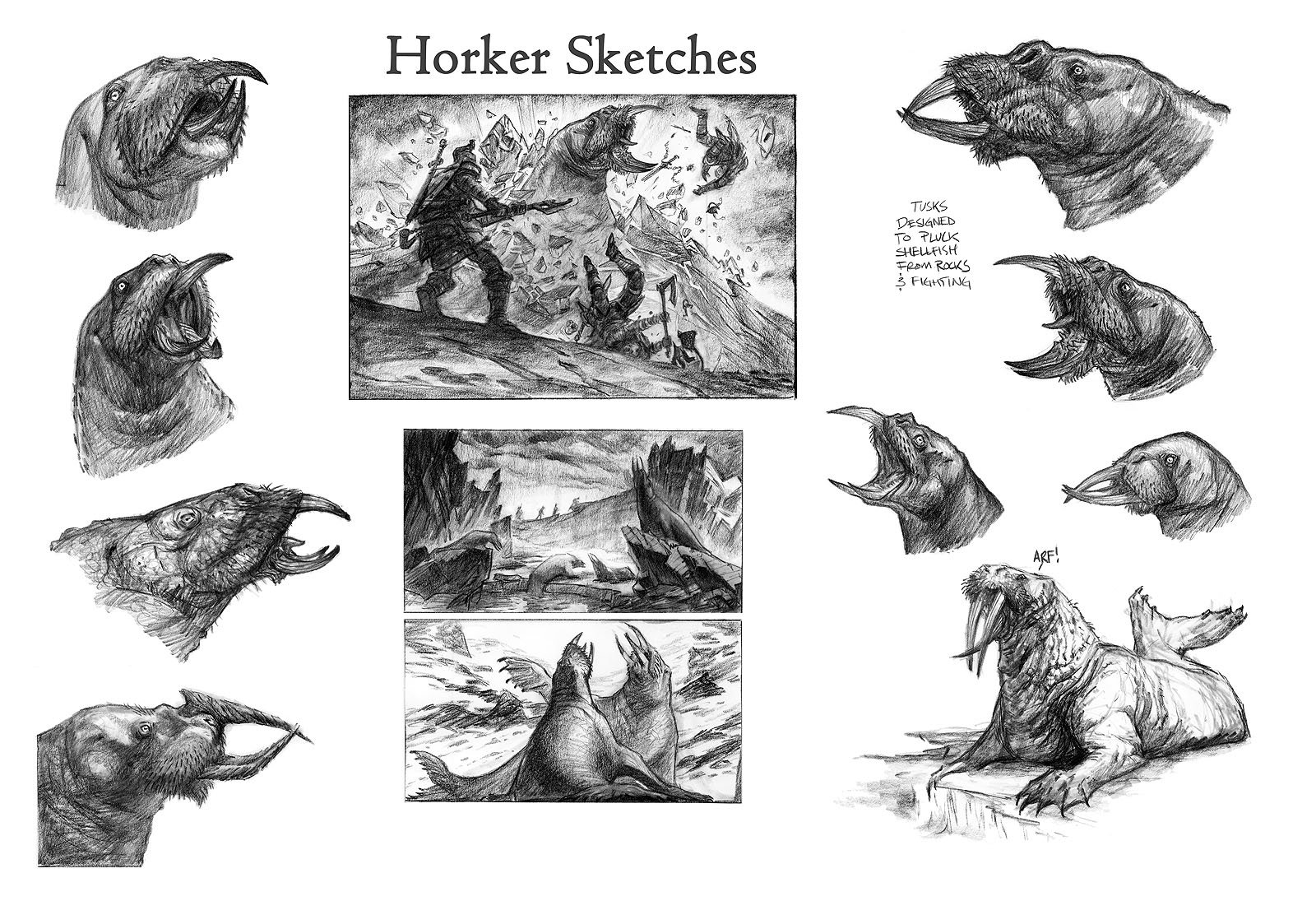 Ray lederer horker sketches web