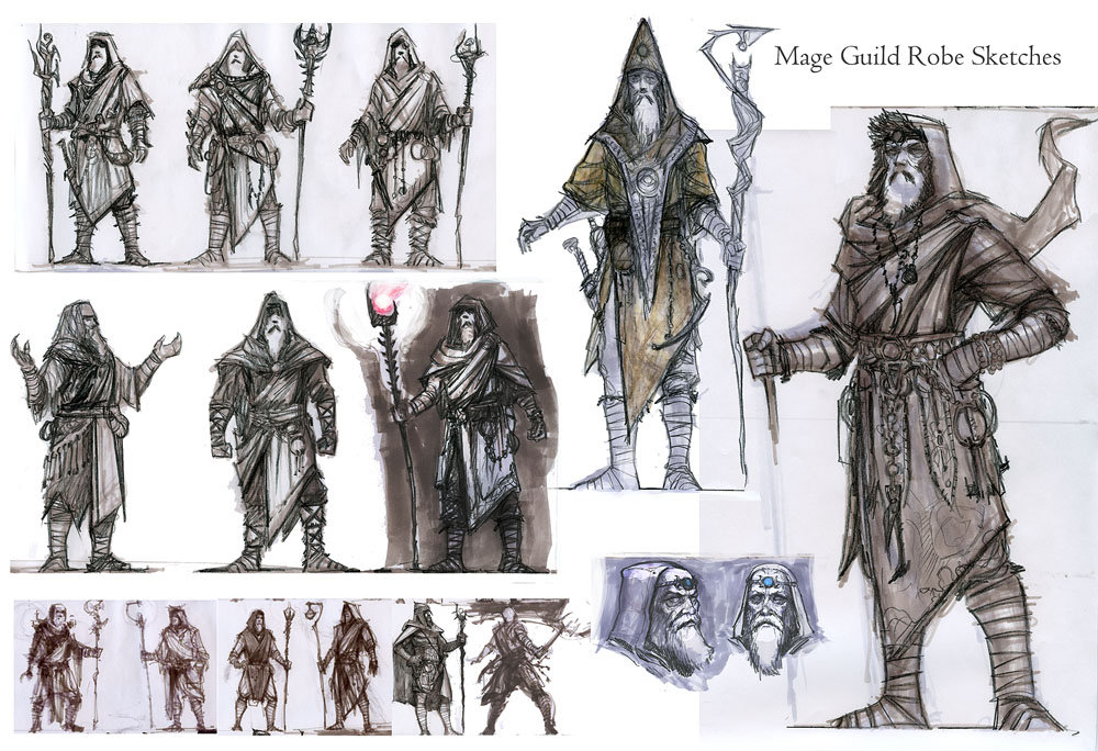 Ray lederer mage male robe sketches web