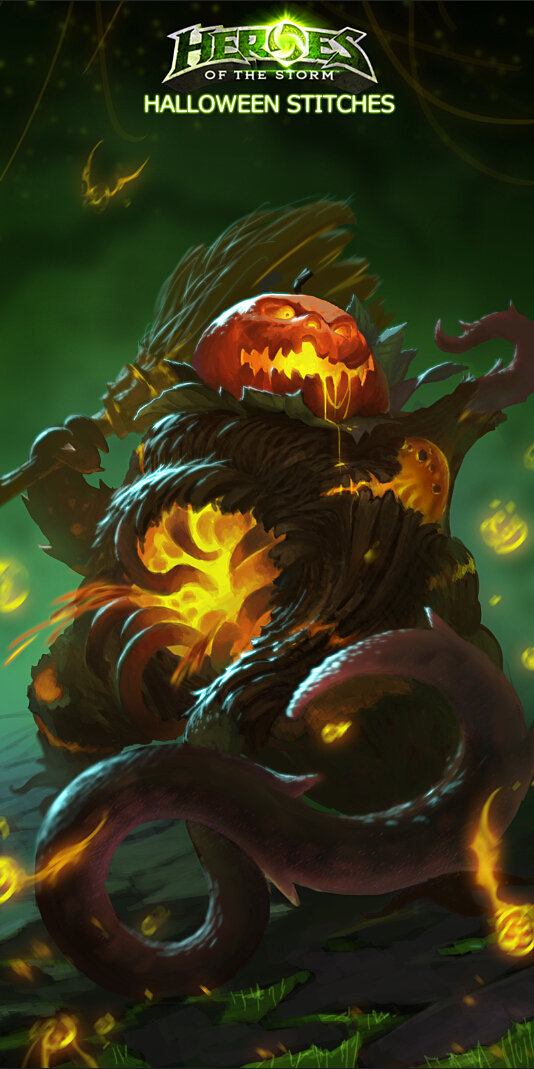 halloween skin of stitches<heros of the strom>