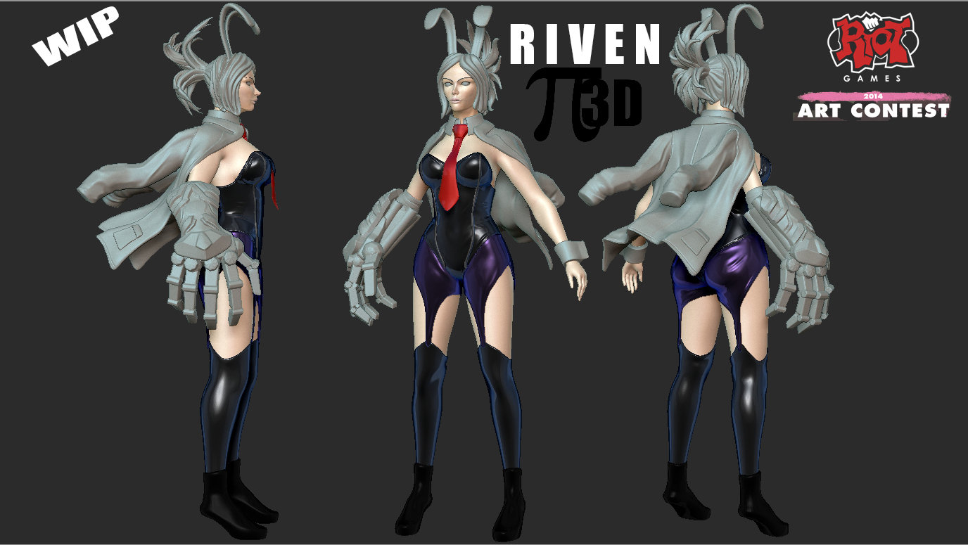 Riot Games Contest 2014 - Riven WIP