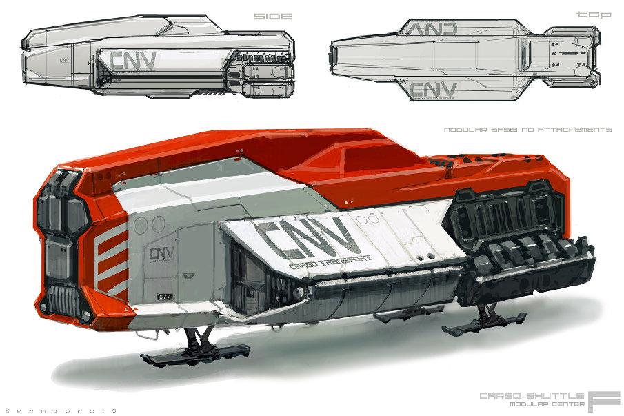 Ben mauro cargo ship chassis bm 15 905