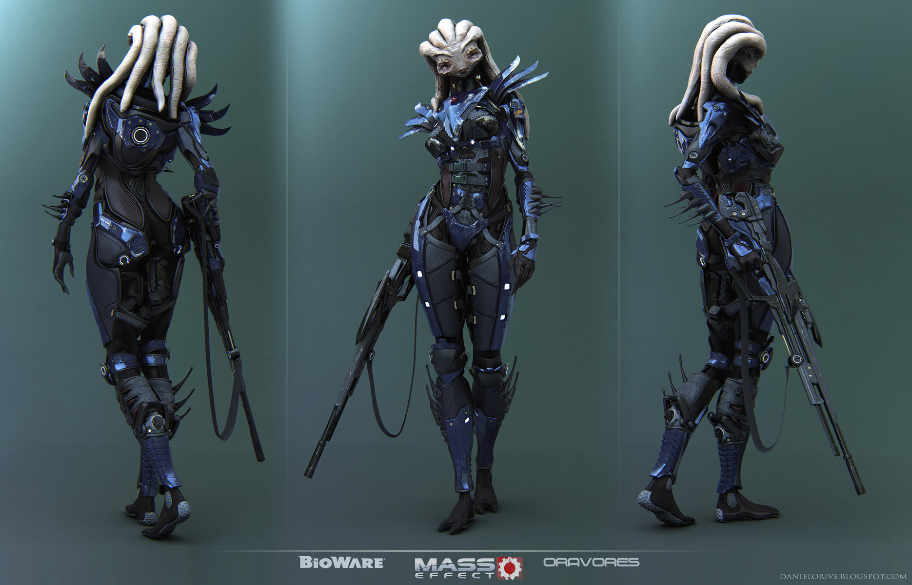 "CgHub Bioware Mass Effect Challenge ""Turnaround Picture HD"""