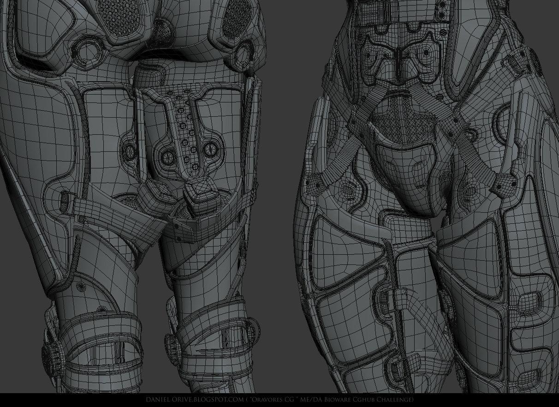 CgHub Bioware Mass Effect Challenge - wireframe shots