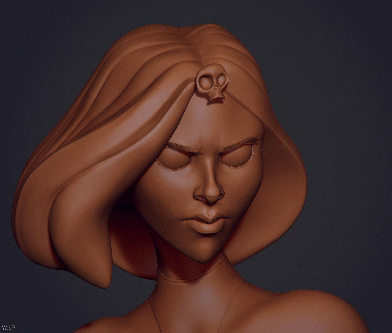 Initial Zbrush sculpt