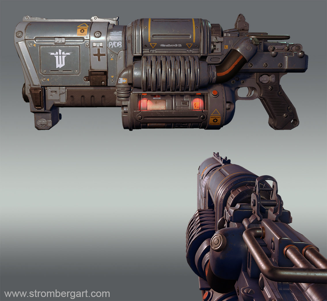 Andreas stromberg wolfenstein weapon textured