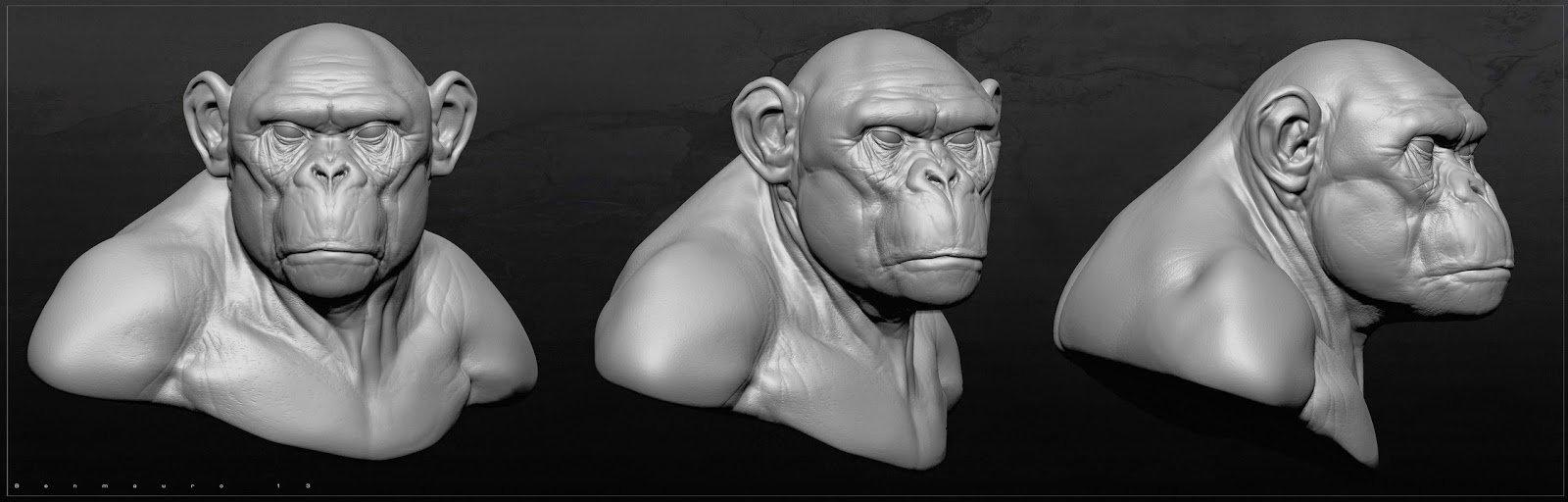 Ben mauro chimp sculpt bm o