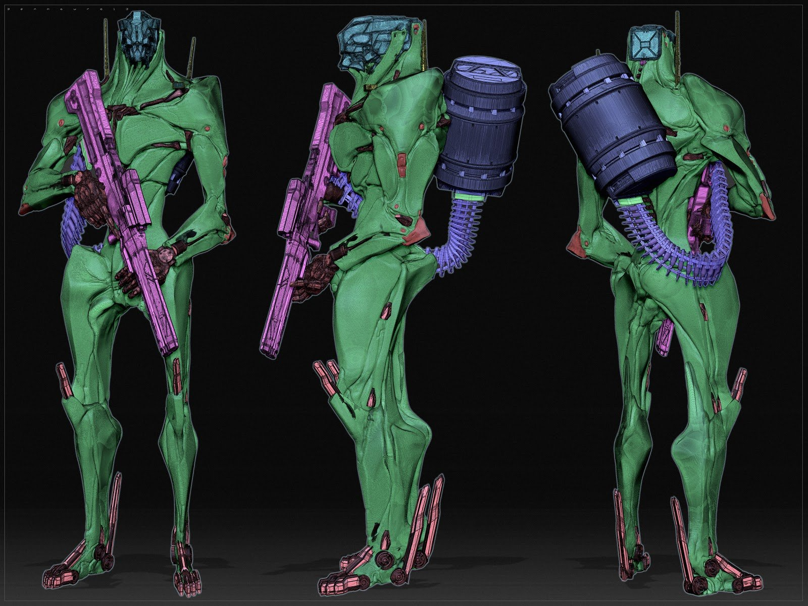 Ben mauro robot polygroups 1 bm copy