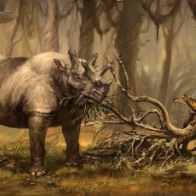 Eobasileus and chriacus in north american eocene by stephen somers