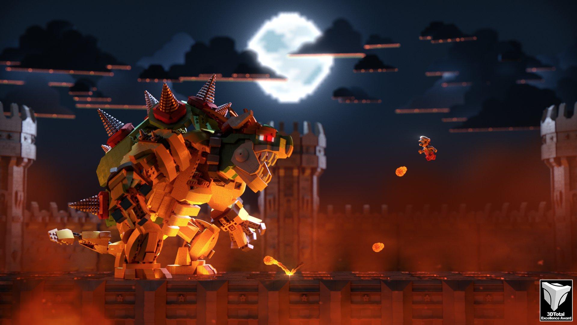 ArtStation - Mario VS Bowser LEGO STYLE, Simon BAU