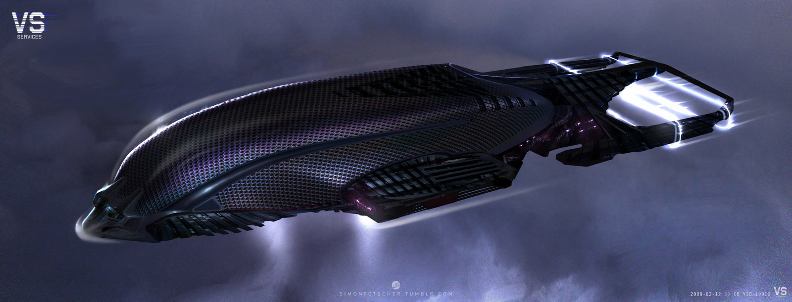 Spaceship in the clouds 2