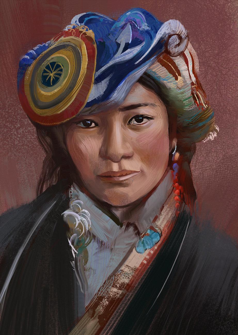 Tibetan girl puzzuoli final