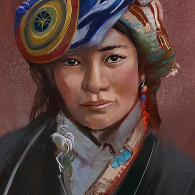 Tibetan girl puzzuoli final
