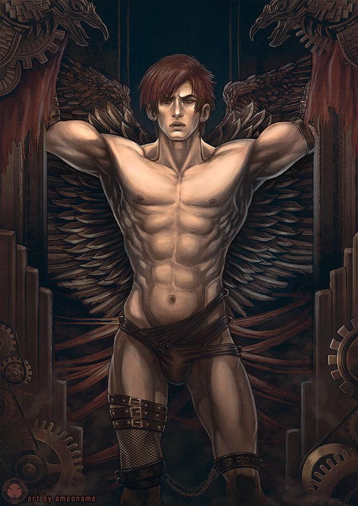 Erotic male angels
