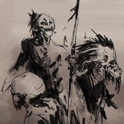 Fredram 3rdcurse goblin sketch 02