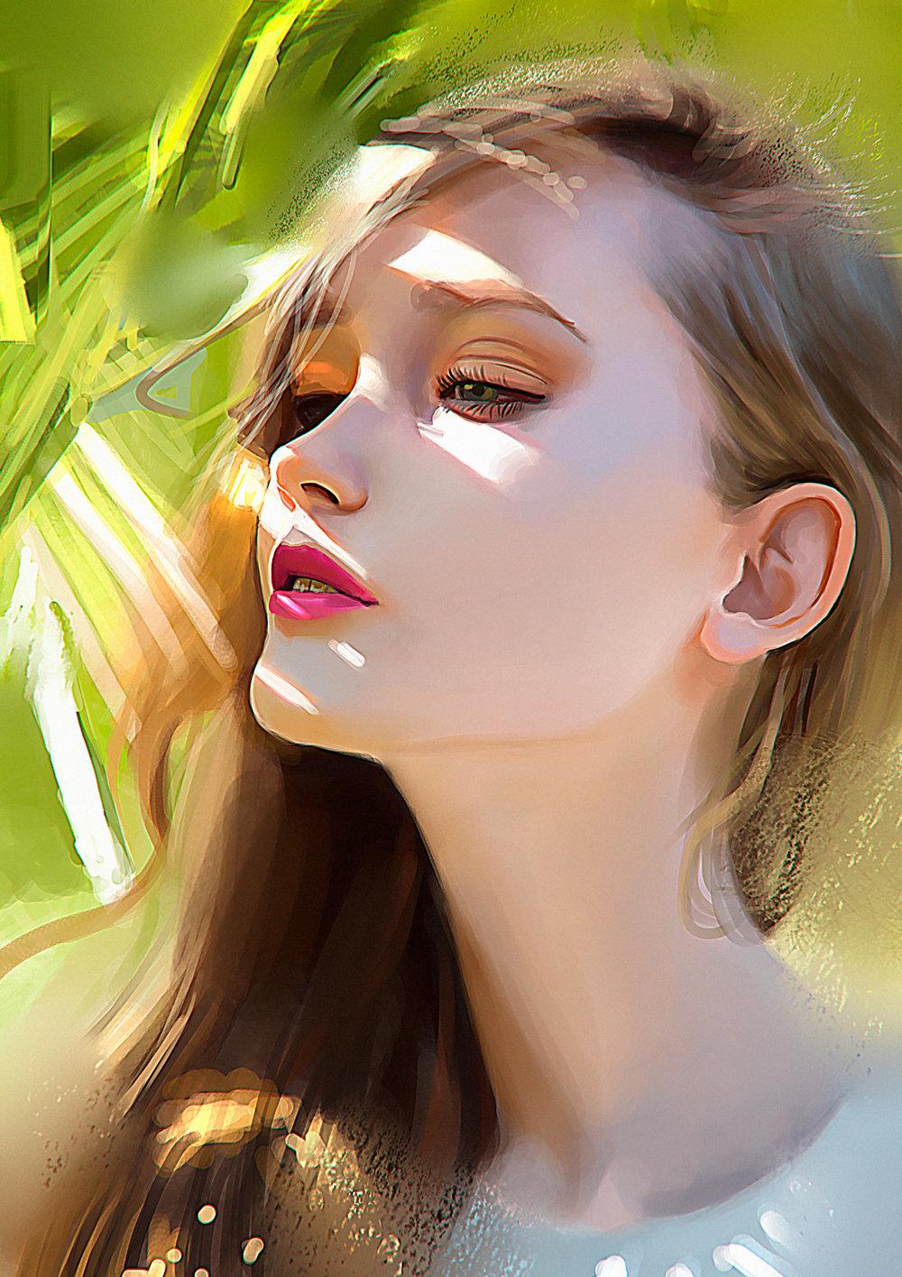 ArtStation Color study portrait Carlos Alberto Martnez