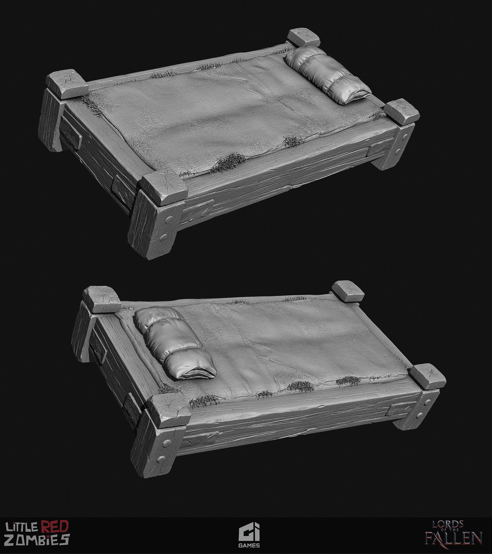 Vimal kerketta bed renders highpoly