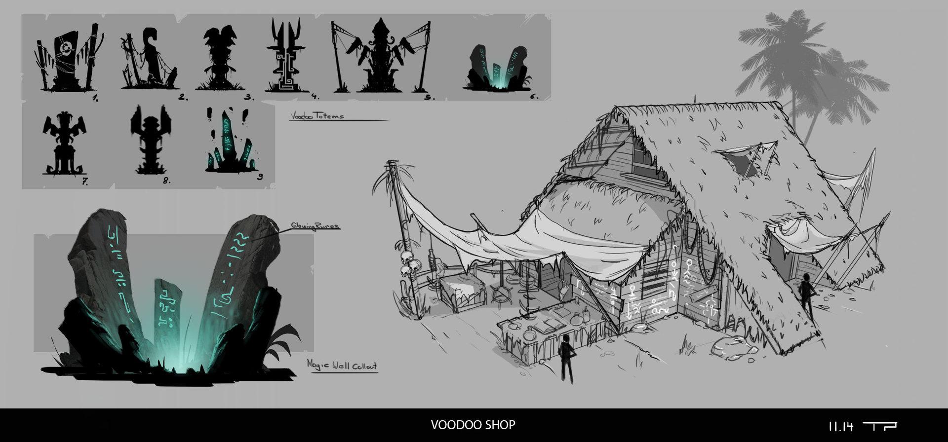 Vood shop plus some totems