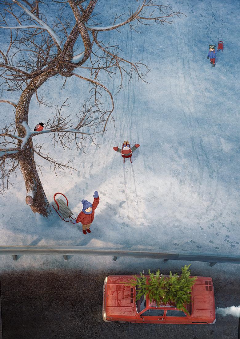 Toms seglins cgtalk wintercards 1