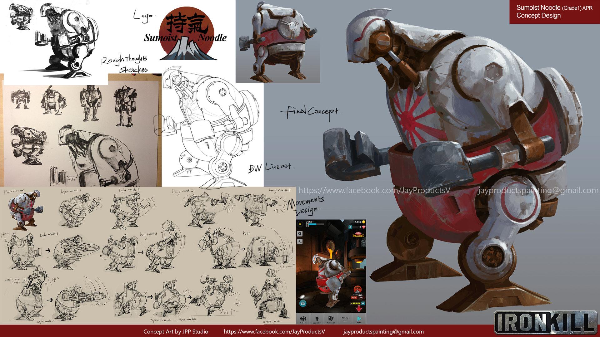 Game Character Design Apps : Artstation ironkill app game concept artwork robot sumoist