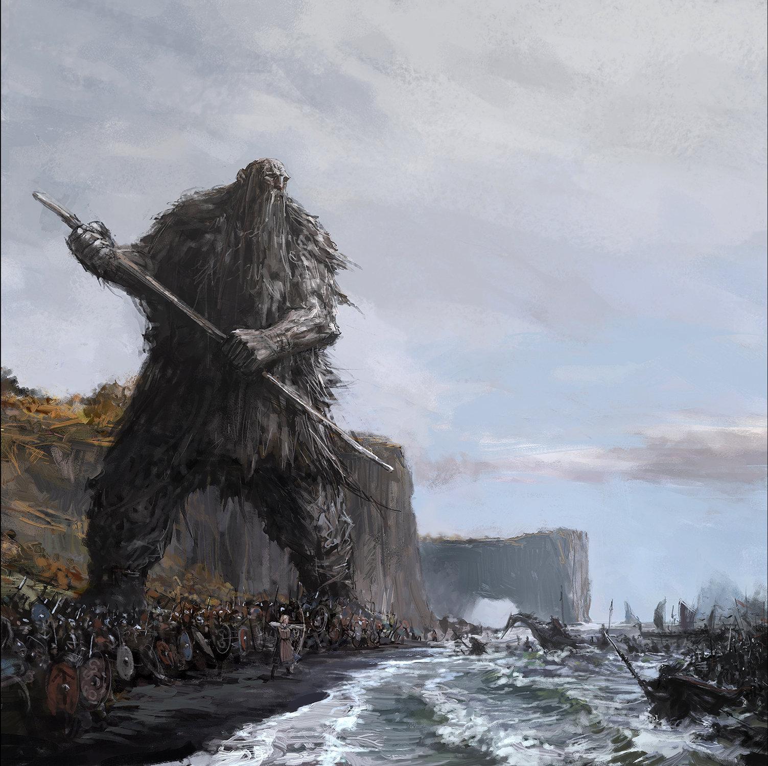 """Illustration from the booklet of """"Með Vættum"""""""