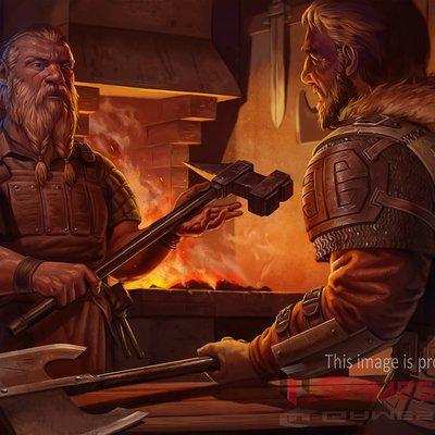 Ben hughes dwarven forge by benjie art d6wshom