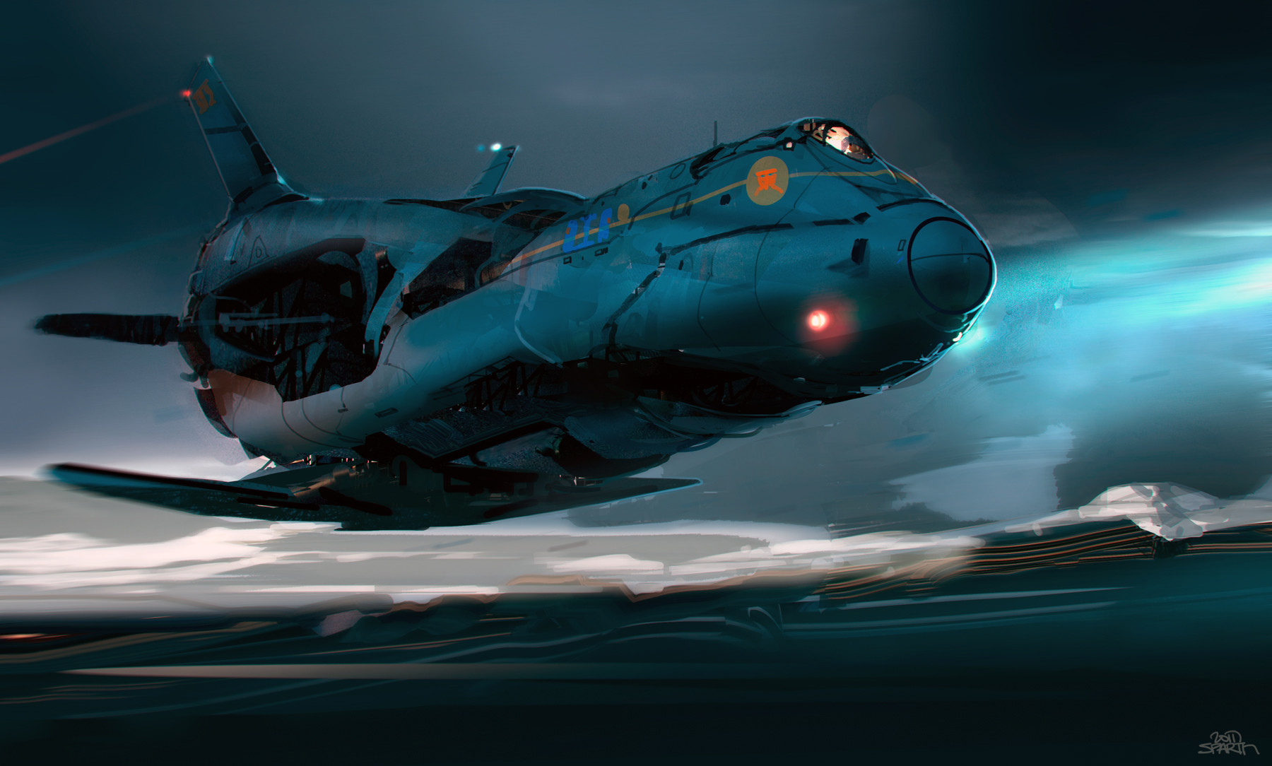 Sparth nicolas bouvier spaceship study