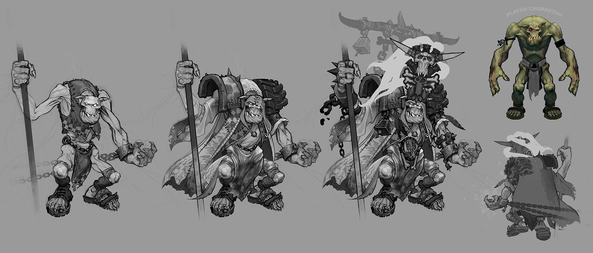 Here is what might have been a higher tier Ork Weirdboy armor set in Dark Millennium Online.