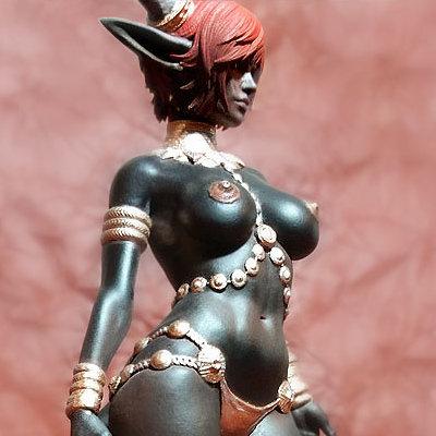 Minotaura-Girl Figurine (Painted)