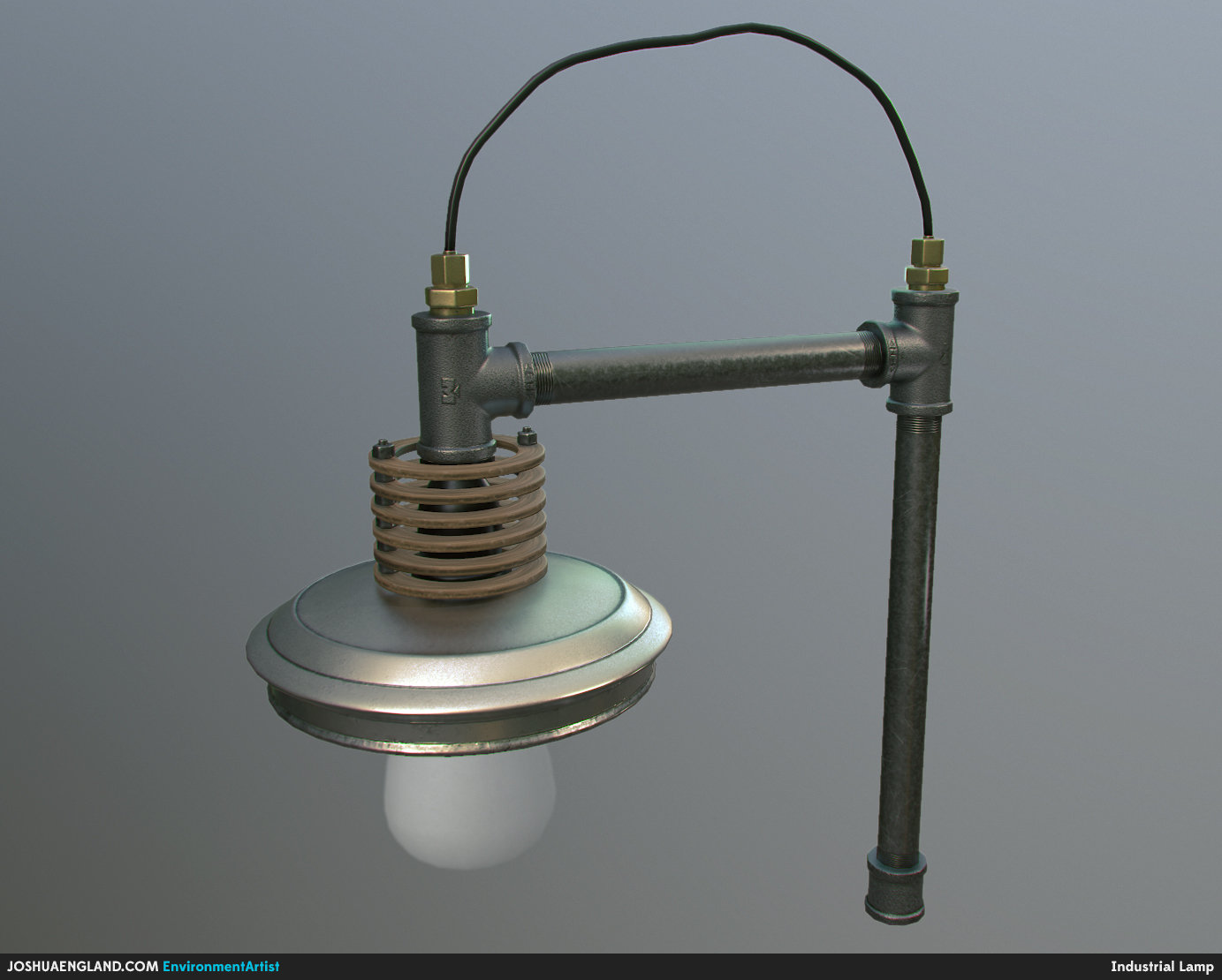 Joshua england industrial lamp front