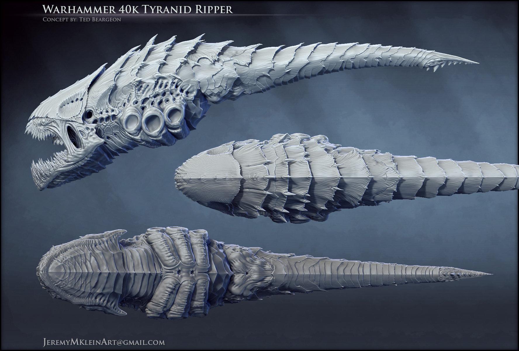ArtStation - Warhammer 40k Tyranid Ripper, Jeremy Klein