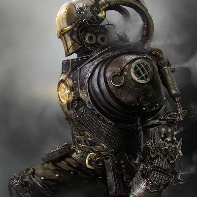 Mateusz ozminski iron man steampunk