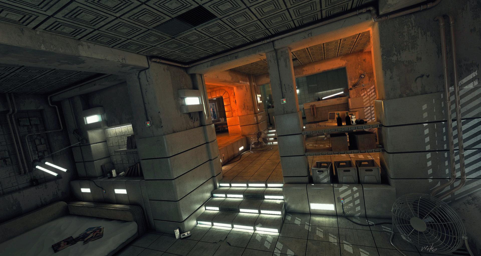 ArtStation  Blade Runner Inspired Apartment study, Rob Watkins