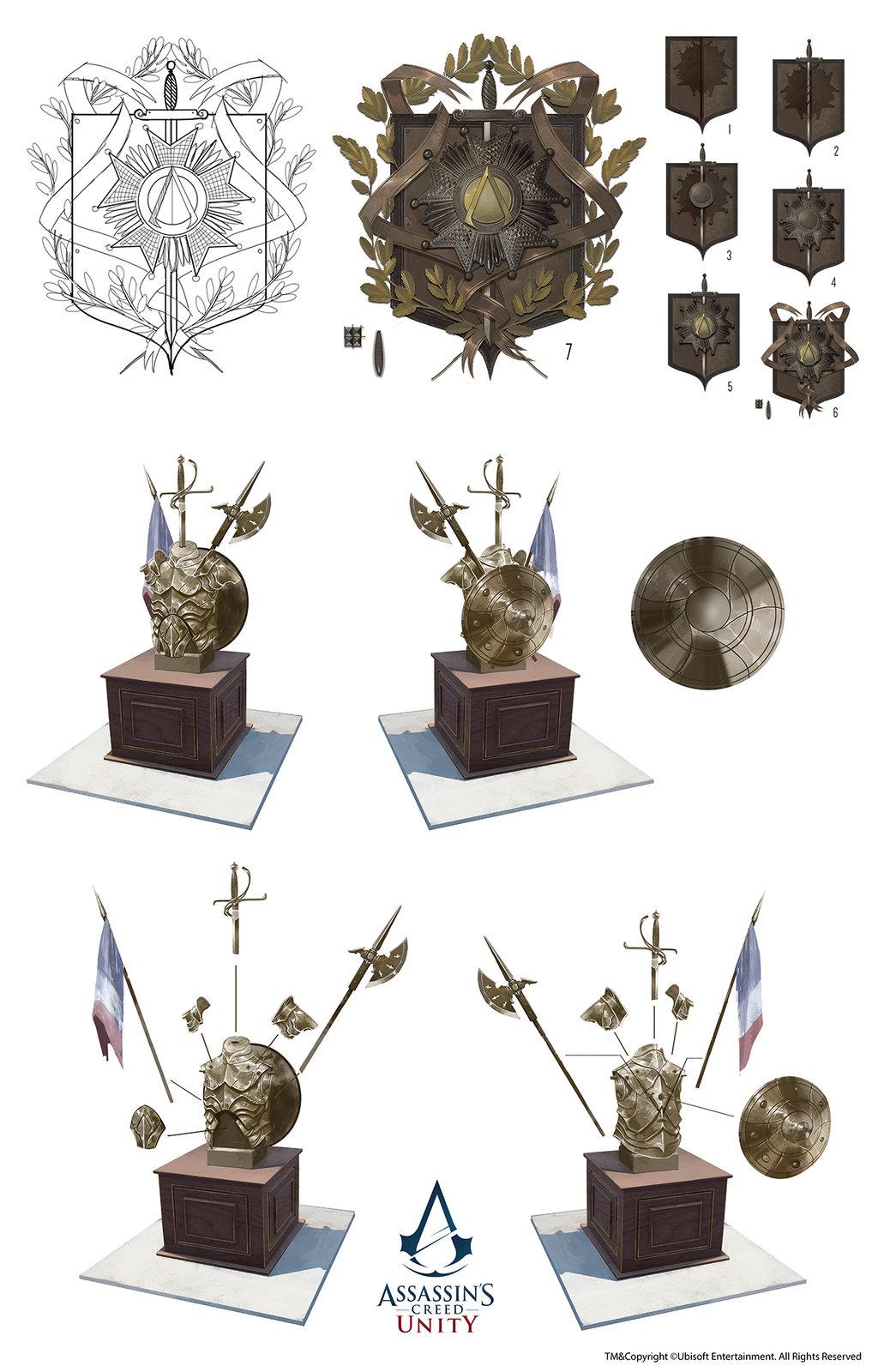 Assassin's Creed Unity /// Café théâtre Trophy room props