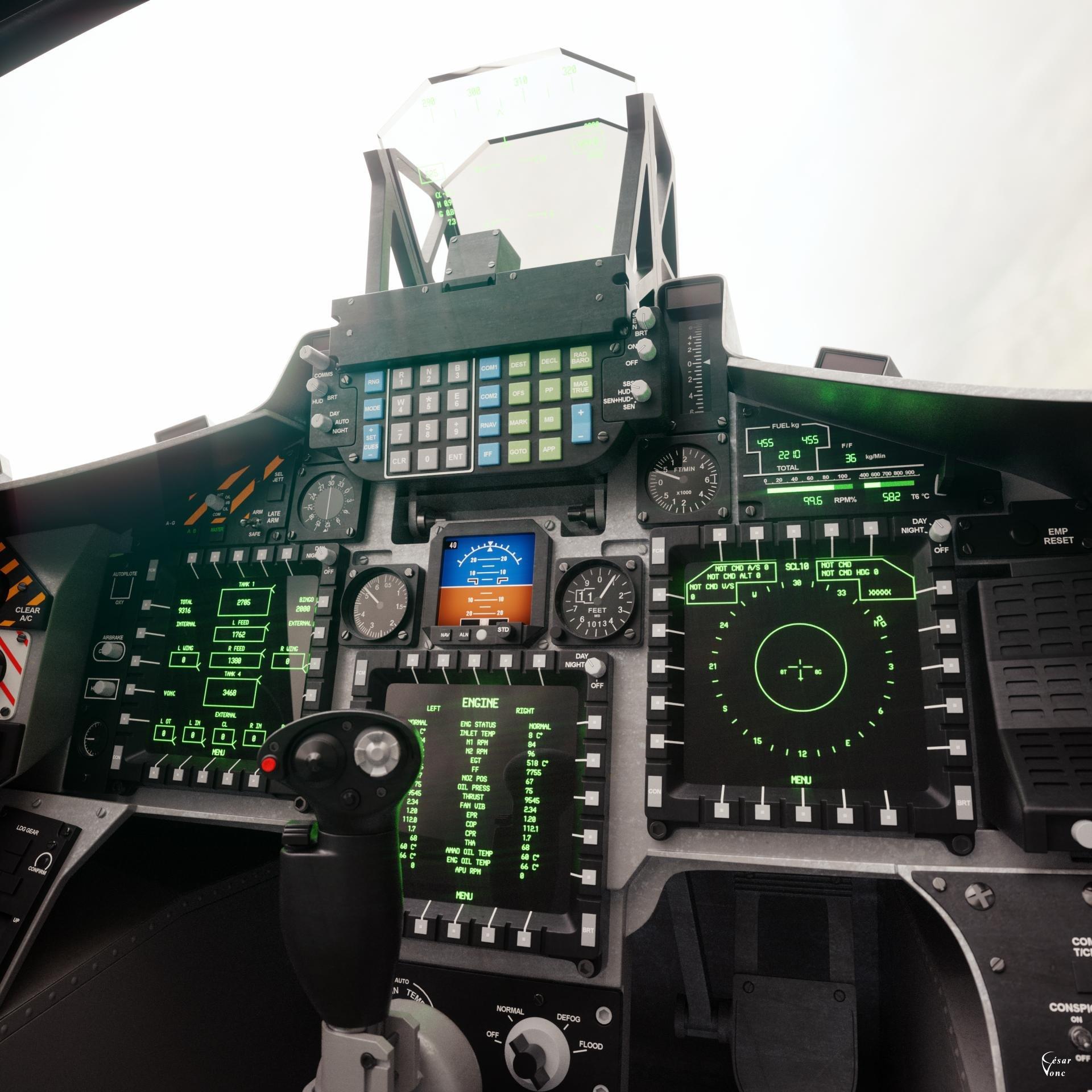 César Vonc - BAE Hawk T2 Cockpit