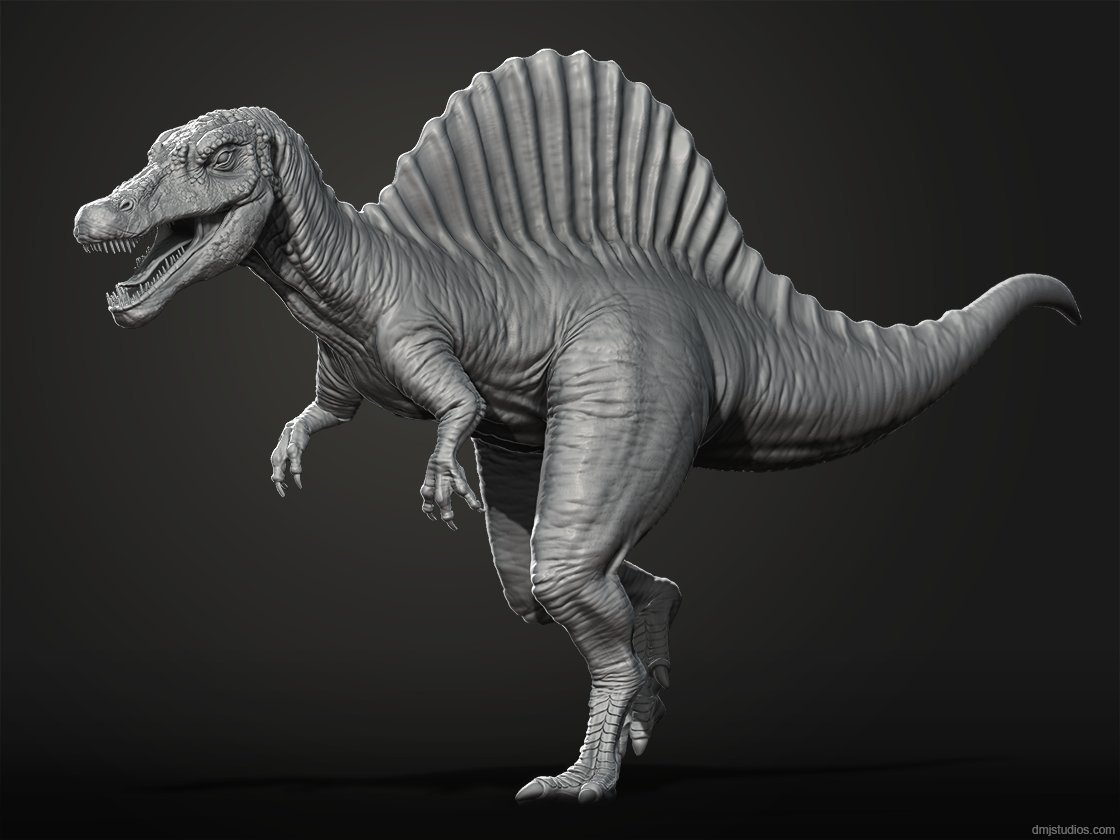 David jones spinosaurus clay render