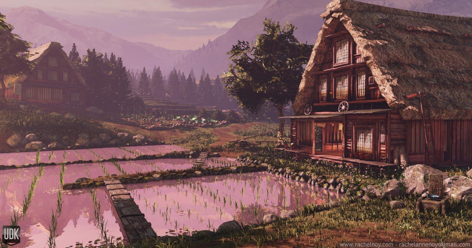Japanese Farming Village
